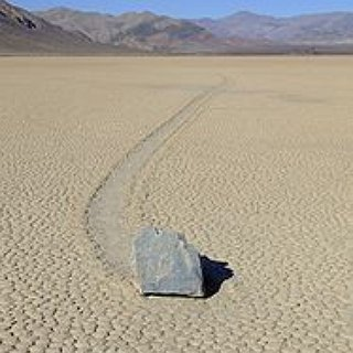 BucketList + See The Moving Stones Of Death Valley.